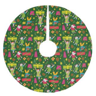 rassemblement 'autour de l'arbre jupon de sapin en polyester brossé