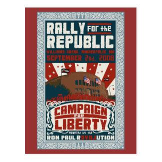 Rassemblement pour la carte postale de République