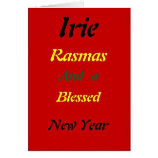 Rasta a béni des cartes de Noël