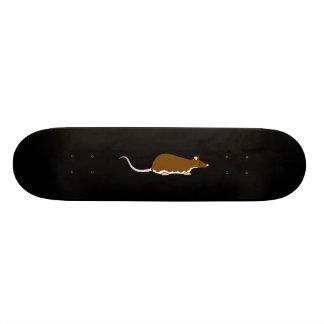 Rat d'animal familier de Brown. Berkshire, ventre  Plateaux De Skateboards Customisés