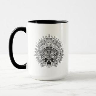 Raton laveur dans le griffonnage fait varier le mug