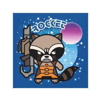 Raton laveur de Kawaii Rocket dans l'espace Toile