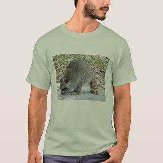 Raton laveur sur le T-shirt de roche
