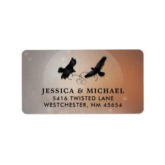 Ravens et étiquette de adresse de mariage de