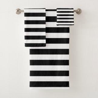 Rayé noir et blanc moderne