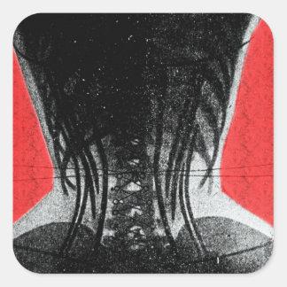 Rayon X de femme dans un autocollant de corset