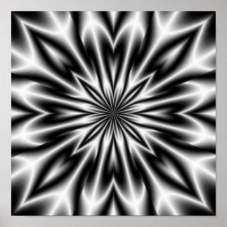 Rayon X psychédélique de fleur Posters