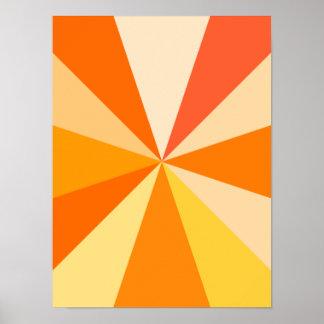Rayons 60s géométriques géniaux modernes d'art de