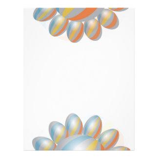 Rayure Baloons d'arc-en-ciel Prospectus 21,6 Cm X 24,94 Cm