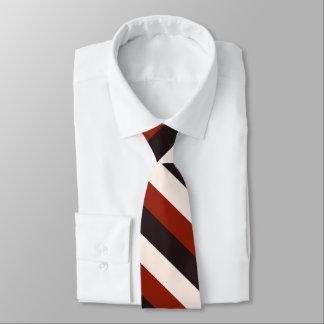 Rayure blanche noire rouge décontractée de cravate