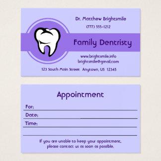 Rayure centrale audacieuse de dent blanche cartes de visite