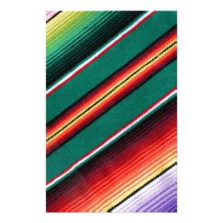 Rayure colorée couvrante mexicaine du sud-ouest papeterie