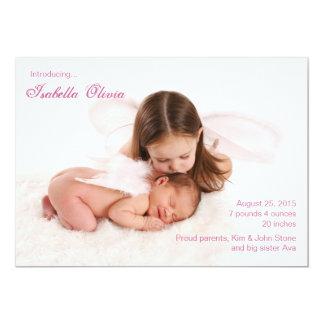 Rayure de bébé - faire-part de naissance de photo