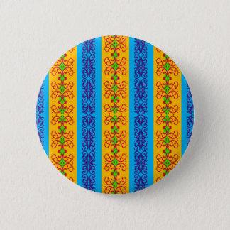 Rayure de brocard de Boho Badge Rond 5 Cm