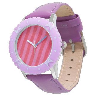 Rayure de roses indien montres bracelet