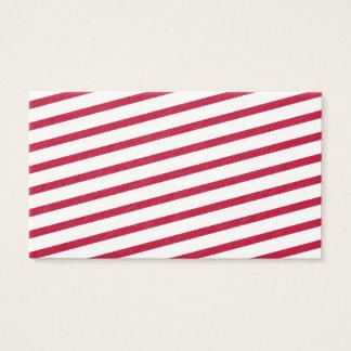 rayure de sucre de canne cartes de visite