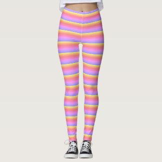 Rayure de sucrerie leggings