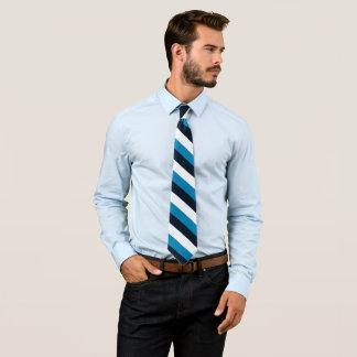Rayure décontractée de blanc de noir bleu de cravate