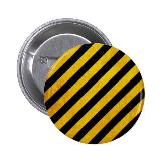 Rayure grunge de risque badge rond 5 cm