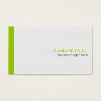 Rayure verte simple moderne élégante simple sur le cartes de visite