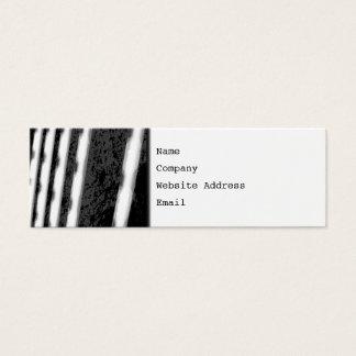 Rayures abstraites noires et blanches carte de visite petit format