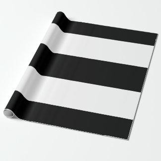 Rayures blanches noires papier cadeau