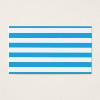Rayures bleues cartes de visite
