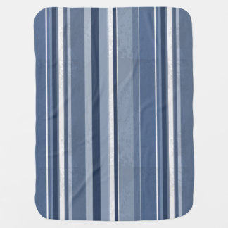Rayures bleues couvertures pour bébé