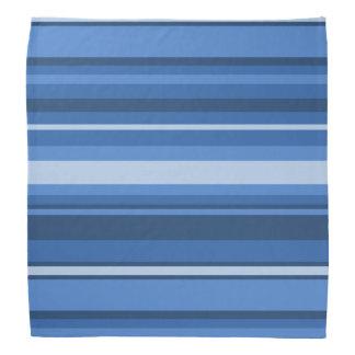 Rayures bleues de monogramme bandanas