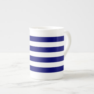 Rayures bleues et blanches nautiques mug