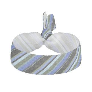 Rayures bleues, vertes et noires élastique pour cheveux