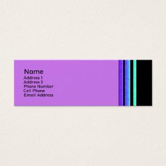 rayures colorées carte de visite petit format