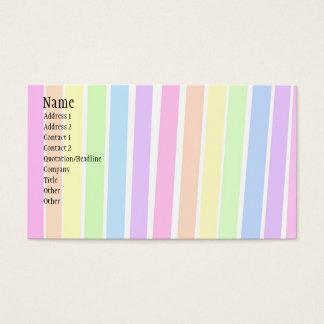 Rayures colorées carte de visite standard