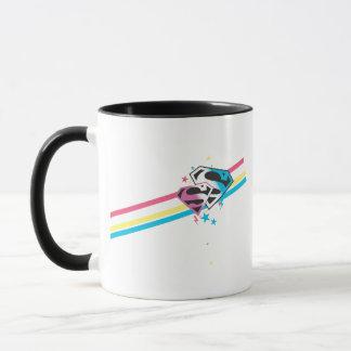 Rayures d'arc-en-ciel de Supergirl Mug