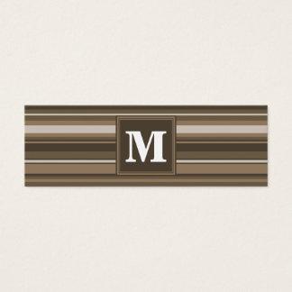 Rayures de Brown Mini Carte De Visite