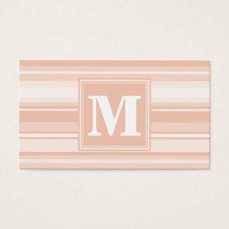 Rayures de pêche de monogramme cartes de visite