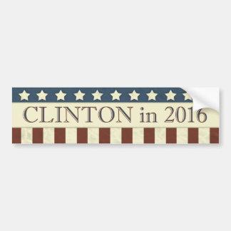 Rayures de président 2016 étoiles de Hillary Autocollant De Voiture