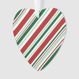 Rayures de sucrerie de Noël : Vert