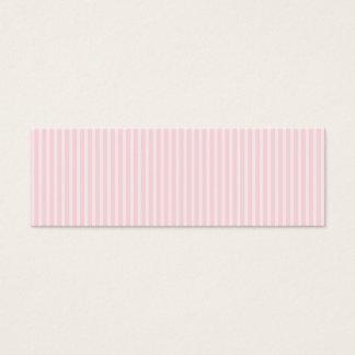 Rayures de sucrerie de rose en pastel carte de visite petit format