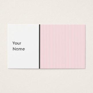 Rayures de sucrerie de rose en pastel carte de visite standard