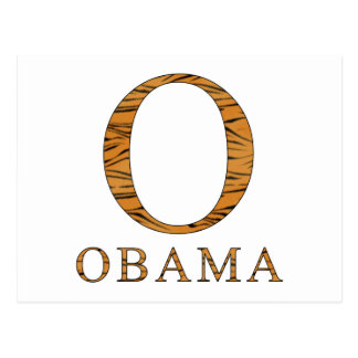 Rayures de tigre de Barack Obama Carte Postale