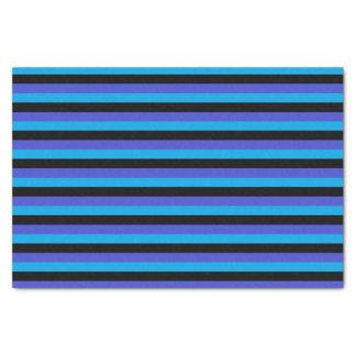 Rayures de turquoise, noires et bleues papier mousseline