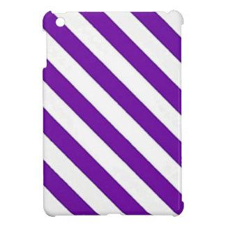 Rayures diagonales pourpres étuis iPad mini