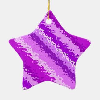 Rayures en verre - nuances de pourpre d'améthyste ornement étoile en céramique