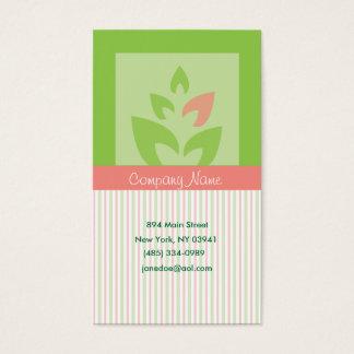Rayures et feuille carte de visite standard