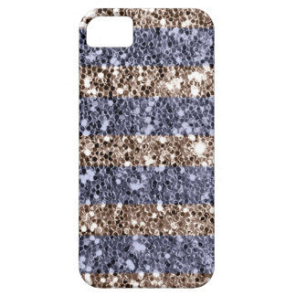 Rayures Girly de regard de scintillement en argent Coques iPhone 5 Case-Mate