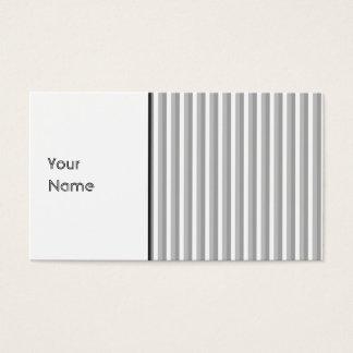 Rayures grises et blanches. Modèle Carte De Visite Standard