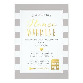 Rayures grises - invitation de chauffage de partie