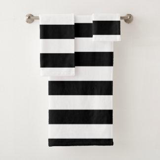 Rayures horizontales noires
