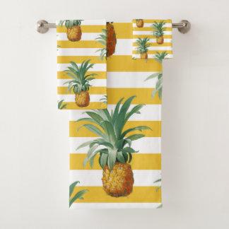 rayures jaunes de pinepples